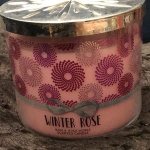 Bbw winter rose candle